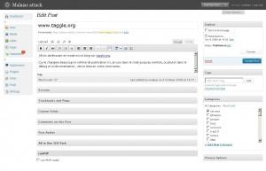 """Nouvelle page d'édition, très """"widgetisée"""". Tous les blocs sont masquables et déplaceables."""
